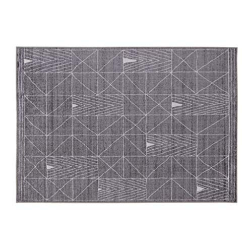 Teppiche JXLBB Wohnzimmer Einfache Geometrische Graue Linie Nordische Moderne Wohnzimmer Studie Schlafzimmer Bettdecke Decke Dicke 10mm Polyester 1,4x2m Dicke 10mm
