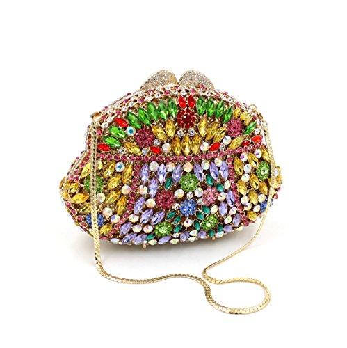 Borsa Da Sera Con Diamante In Cristallo Di Lusso Per Donna Borsa Con Diamante Onecolor