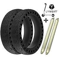 Lymbit x2 Neumático sólido Antideslizante reemplazo para Ruedas macizas Llanta De Patinete Scooter eléctrico Xiaomi M365