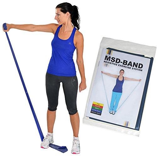 MSD 2,5m Bleu Bande élastique Extra résistant en latex MSD-Band