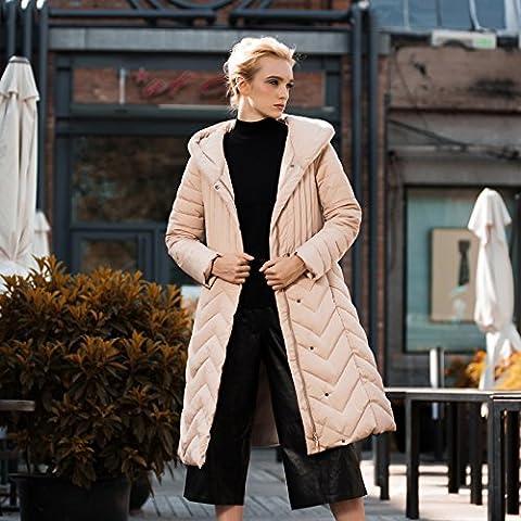 MYM Nuova moda in Europa e lungo sottile dimensione e spessore grasso copriletto di inverno, abbigliamento di cotone , pink , l