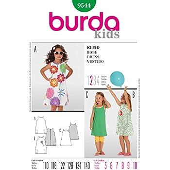 Burda Nähmuster 9544 für Kinder-Kleider, Größen: 110 - 140: Amazon ...
