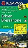 Brixen /Bressanone: Wanderkarte mit Aktiiv Guide, Radrouten und alpinen Skirouten. Dt. /Ital. GPS-genau. 1:50000: Wandelkaart 1:50 000 (KOMPASS-Wanderkarten, Band 56) -