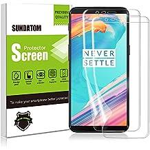 OnePlus 5T Protector de pantalla, Sundatom [2unidades] [caso Friendly] suave rígida TPU Protector de pantalla Cobertura completa 3d Edge curvado sin burbujas con borde no levantamiento [anti-scratch] para ONE PLUS 5T