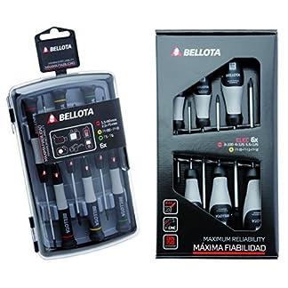 Bellota 6250J – Pack de 6 destornilladores de precisión + 66291-ELEC – Pack de 6 destornilladores para electricista
