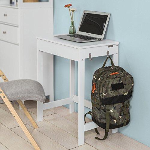Sobuy® scrivania,tavolo per computer,tavolo cosmetici,bianco,fwt43-w,it