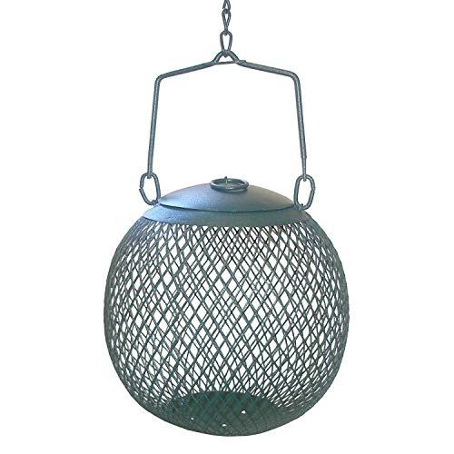 Perky-Pet Wildvogel-Futterspenderkugel aus Metall / Kleine Dekorative Futterstation für den Garten / Füllmenge 0,5 kg / Grün / Mod. GSB00344 -