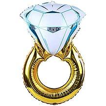 DierCosy Anillo Propuesta Anillo de Diamantes Globo Flotante Divertido del Partido del Globo Decorativo Globo de
