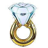 DierCosy Anillo Propuesta Anillo de Diamantes Globo Flotante Divertido del Partido del Globo Decorativo Globo de la Hoja de Aluminio