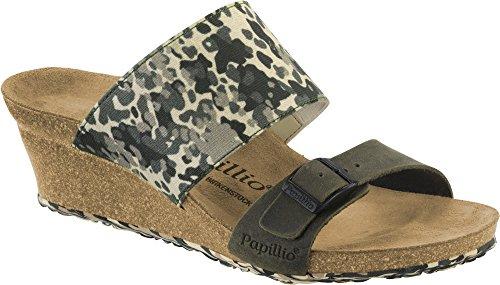 PAPILLIO BIRKENSTOCK DELLA CAMOUFLAGE scarpe sandali zeppa pelle/stretch (38 EU, Forest Camouflage)