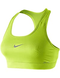 Nike Sport-Bh Pro Victory Compression Sujetador, Mujer, Verde (Lime), M