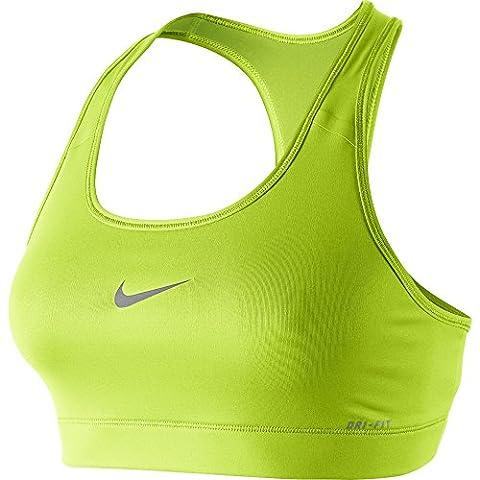 Nike Damen Sport-BH Victory Compression, grün (Volt/Cool Grey), XL