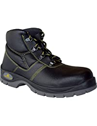 Delta plus calzado - Juego bota piel poliuretano negro talla 42(1 par)