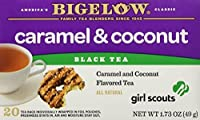 Bigelow Girl Scout Caramel & Coconut Cookie Flavor Black Tea, 1 Box with 20 Bags