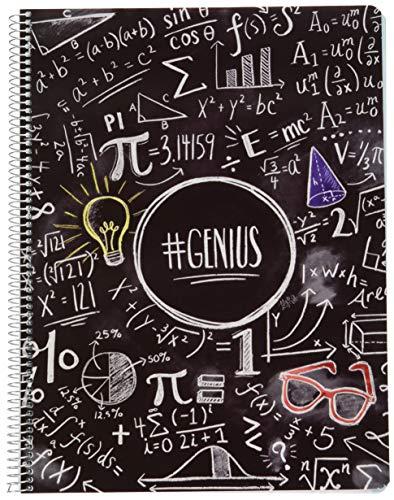 Erik® - quaderno appunti a quadretti lily & val, perfetto per scuole elementari, medie e superiori, a4, 5x5, microperforato