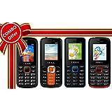 I KALL 1.8 Inch Display Dual Sim Mobile Combo Power Pack Of FOUR Multimedia Mobile- K55 Orange+ K99 Orange+ K66 Blue+ K11