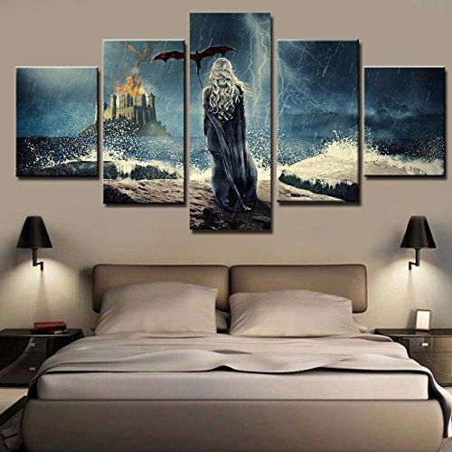 LAKHAFZY Sin Marco HD Impreso Lienzo Fotos Home Decor