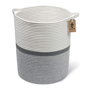 Goodpick Große Baumwolle Seil basket17.7 x 39″ x13.7 -baby Wäschekorb gewebte Decke Korb Kinderzimmer Mülleimer