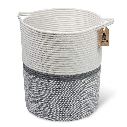 """Goodpick Große Baumwolle Seil basket17.7 x 39\"""" x13.7 -baby Wäschekorb gewebte Decke Korb Kinderzimmer Mülleimer"""