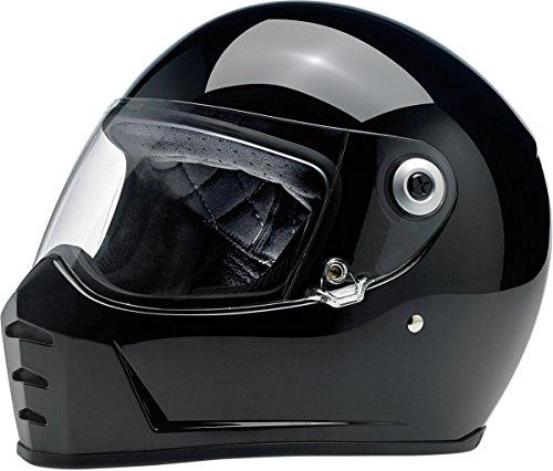 Biltwell Lane divisor sólido Full-Face-Casco de Moto Negro Brillante