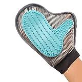 Longwei Gants de nettoyage pour animaux de compagnie, cinq doigts conception maille ventilation chat chien toilettage gant gants de massage doux de-Shedding Brush