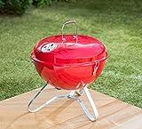 Rot Farbe Bistro tragbar inkl. BBQ Grill mit Griff -
