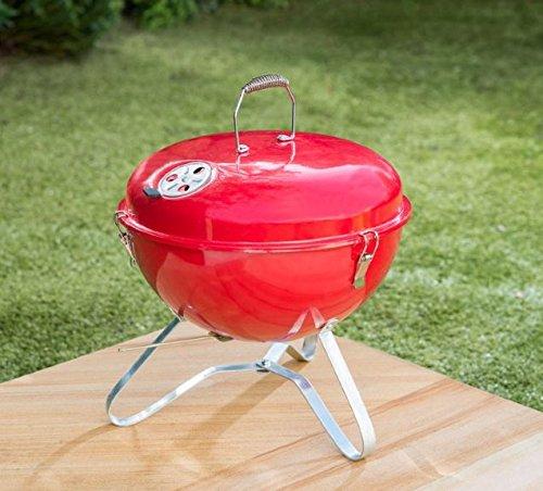 Rot Farbe Bistro tragbar inkl. BBQ Grill mit Griff