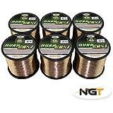 New NGT DuraCast Carp Coarse Fishing Line In BULK SPOOLS 4lb 6lb 8lb 10 12lb 15lb