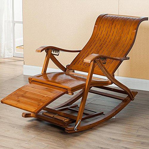 DEO Fauteuils inclinables Chaise longue extérieure de luxe en bois plage Yard piscine pliante chaise longue Lounge Recliner en plein air Patio