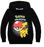 CTOOO Digitaldruck Pokemon GO Jungen Kapuzenpullover Hoodies Sweatshirt Pikachu Print Pullover Kinder Multicolor