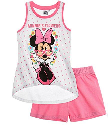 Disney Minnie Chicas Pijama mangas cortas - Blanco - 104
