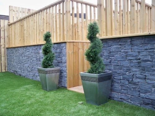 2Künstliche (TM) 90cm 3ft Cedar Spiral Topiary Bäume Alt Buchsbaum * * UV-Verblassen geschützt * *