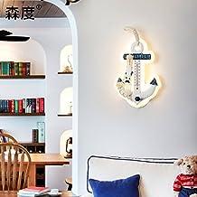 SISANLAI Lámparas de pared Up Down Apliques Apliques Salón paredes están decoradas en un moderno estilo minimalista Sala Infantil de cama Termómetro creativo Apliques de pared, blanco de 18*26cm.