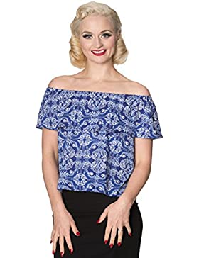 Top con hombros descubiertos off shoulder retro vintage 50's TP1177