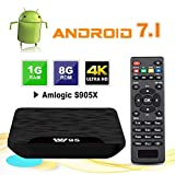Android TV Box - VIDEN W1 Newest Android 7.1 Smart TV Boxsets, Amlogic Quad-Core, 1GB RAM & 8GB ROM, 4K Ultra HD, Support Video Encoder for H.264, WIFI Media Player