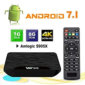 TV-Box-Android-71-VIDEN-W1-Smart-TV-Box-Dernire-Amlogic-S905X-Quad-Core-1Go-RAM-8Go-ROM-4K-UHD-H265-USB-HDMI-WiFi-Lecteur-Multimdia-pour-Divertissement--DomicileVersion-amliore