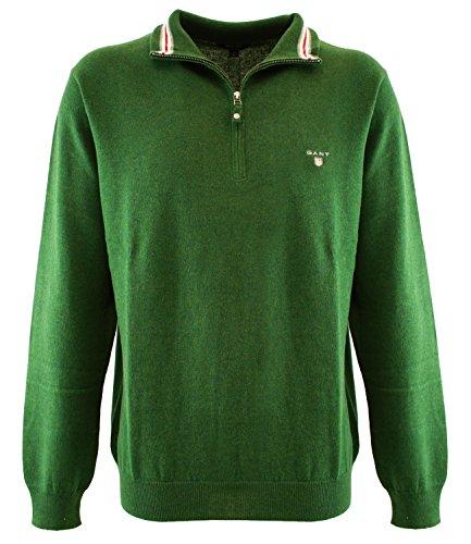 83103380 Gant Maglione mezza zip Verde L Uomo