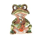 """Ceramics World art-030803 Spardose """"Frosch mit Gitarre"""", Handarbeit"""