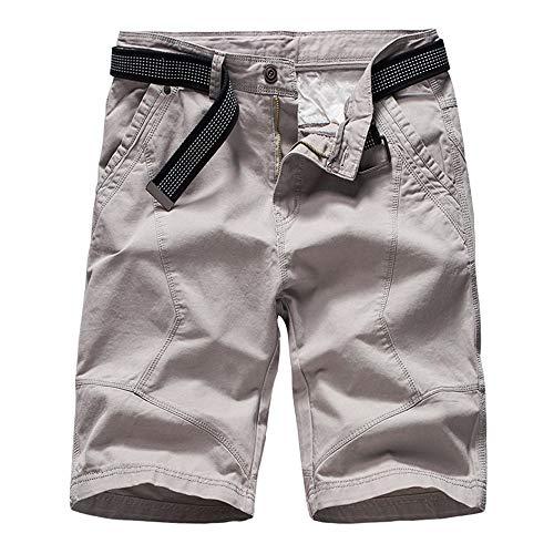 Baumwoll-twill-maler (Aiserkly Herren Cargo Shorts Chino Hosen Gürtel Hose Arbeitshose Pocket Flachgewebe Hose Jogginghose Kampfhose Kurze Sommer Stoffhose)