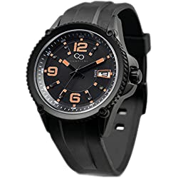Campione Collections cc-campione-nero-st - Watch, Rubber Strap Black