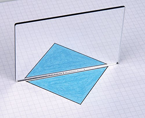 Unbekannt Geometriespiegel aus Kunstglas, einzeln - Spiegelungen Symetrien Formen Eigenschaften...