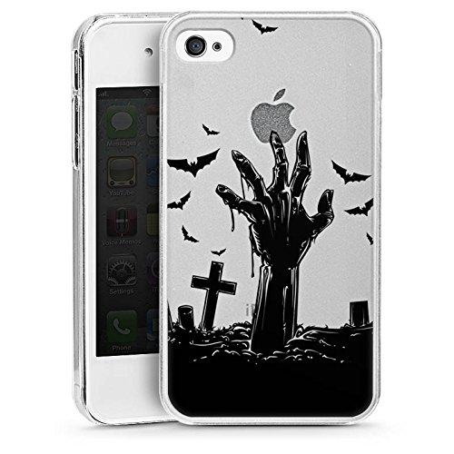 (Apple iPhone 4 Hülle Case Handyhülle Zombie Halloween ohne Hintergrund)