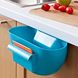 Ducomi Spazzafacile Contenedor para Recojer Basura - Recipiente para Reciclaje Que Encaja en la Puerta de la Cocina o en el Cajón Incluye Placa Recogedora Resistente y Práctica - Facil de Lava (Azùl)