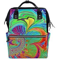 Mochila Hippie Diseño con Fractales