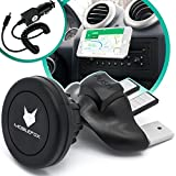Mobilefox Magnet CD Schlitz KFZ Handy Halterung + Micro-USB Ladekabel Zigarettenanzünder 2in1 Set Sony Xperia Z3/Z3+/Z5/Compact/Premium schwarz - Auto Halter