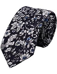 Fleurs Cravate de motif de Cravates Skinny Cravates hommes