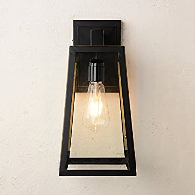 CEENLI 1 Light Industrial Vintage Modern Filament Wall Light Lamp Fixture Outdoor/Bathroom/Indoor Wall Sconce Light(Dark bronze) from CEENLI