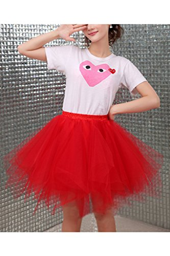 Ellames Damen 50er Vintage Petticoat Party Dance Tutu Rock Ballkleid Schokolade