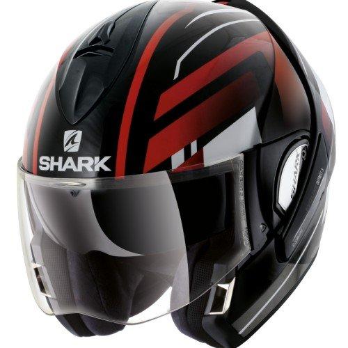Casco de moto Shark HarkEvoline 3Corvus, negro/blanco, talla XS