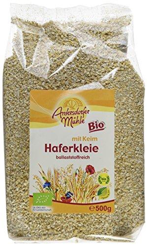Antersdorfer Mühle Haferkleie mit Keim Bioland/Biokreis, 6er Pack (6 x 500 g)